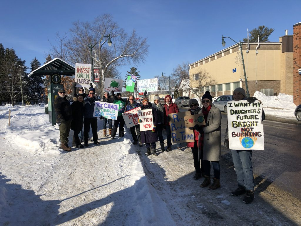 Climate Strikers in Muskoka — December 20, 2019