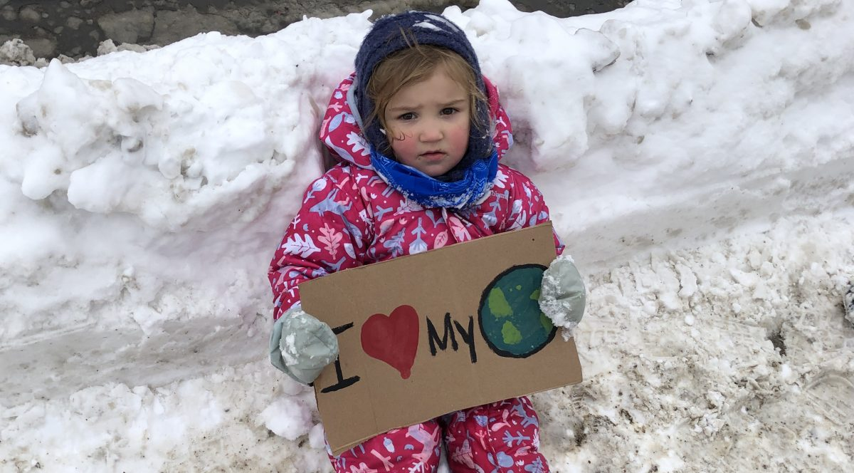 Young climate striker in Bracebridge