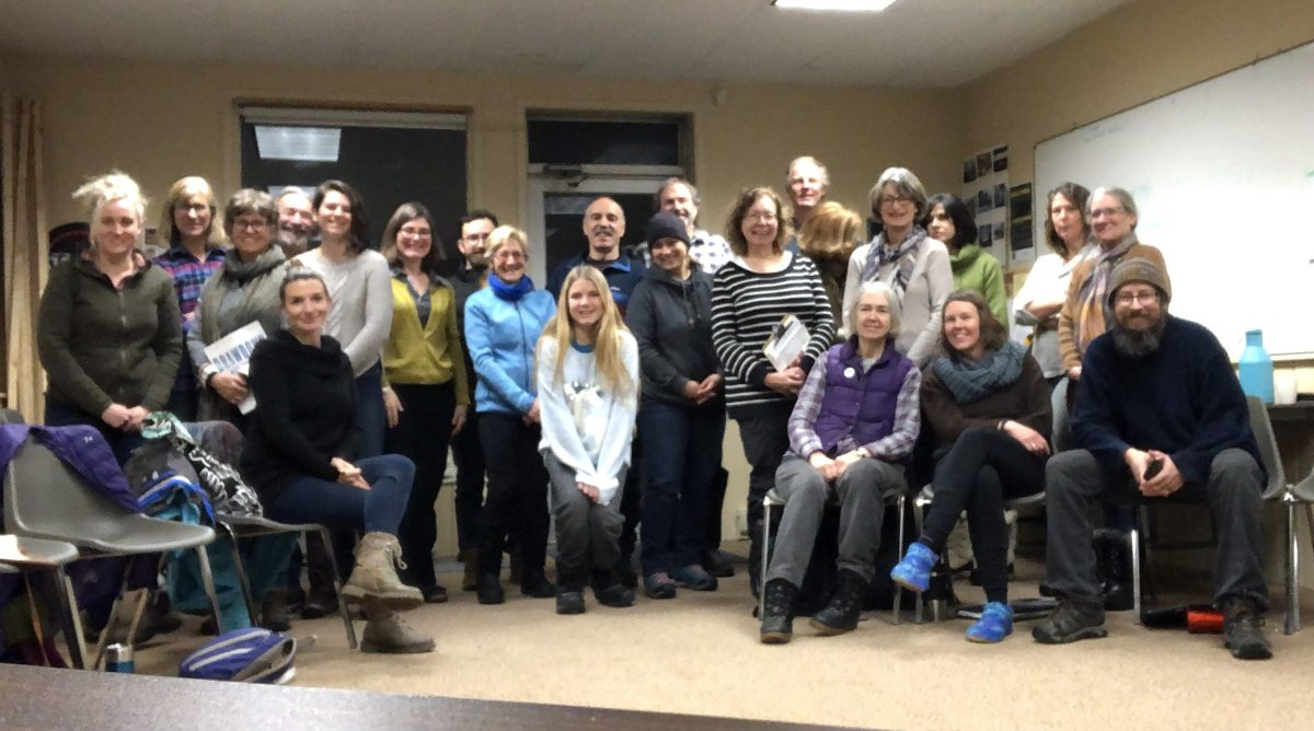 Group that gathered for January 12 meeting