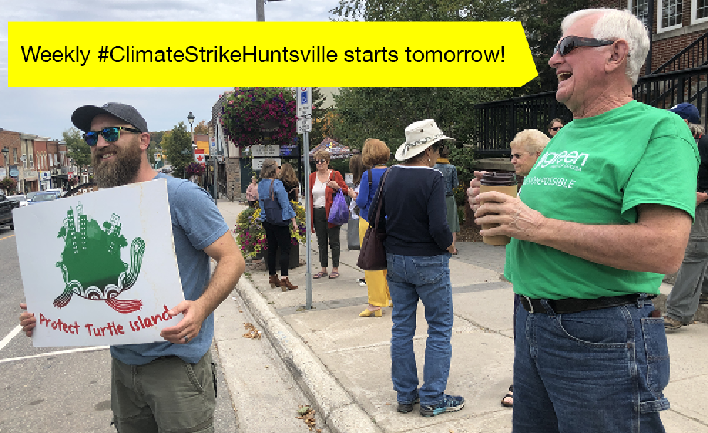 Climate strikers in Huntsville, Autumn 2019